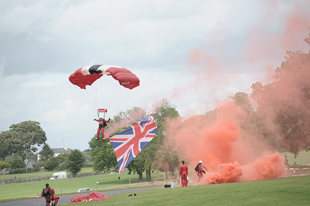 The Red Devils at the Chateau Impney Hill Climb, Droitwich
