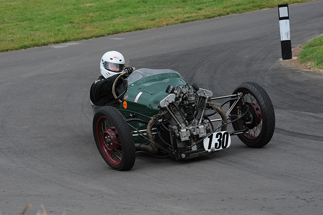 Hale Morgan at the Chateau Impney Hill Climb, Droitwich