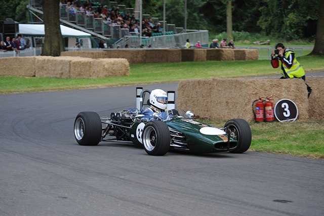 Martin Jones, Brabham BT21-B at Chateau Impney Hill Climb, Droitwich