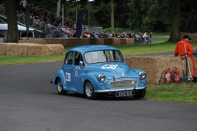 David West in an Austin Mini Cooper S, Chateau Impney Hill Climb, Droitwich