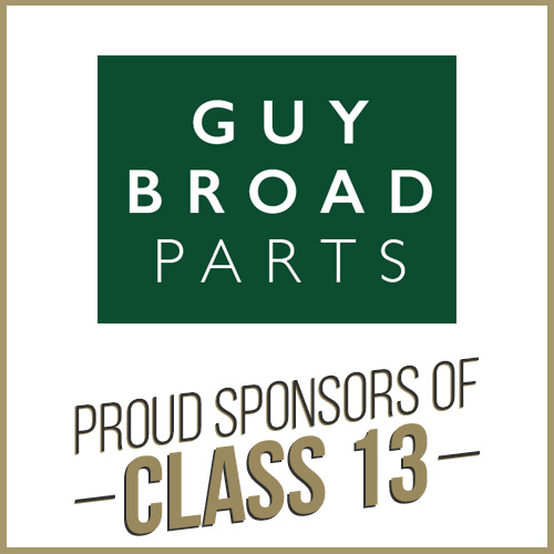 Class 13 Sponsor Guy Broad Parts