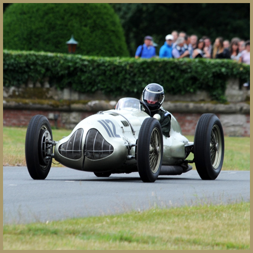 Duncan Ricketts in ERA GP1 at the Chateau Impney Hill Climb, Droitwich