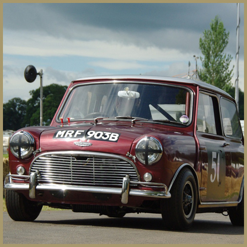 Team Broadspeed Minis at Chateau Impney Hill Climb, Droitwich