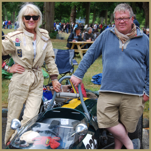 Briony Serrell, Lotus 51A at the Chateau Impney Hill Climb, Droitwich