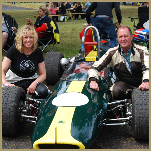Lotus 51A, John and Nikki Cottrill, Chateau Impney Hill Climb, Droitwich