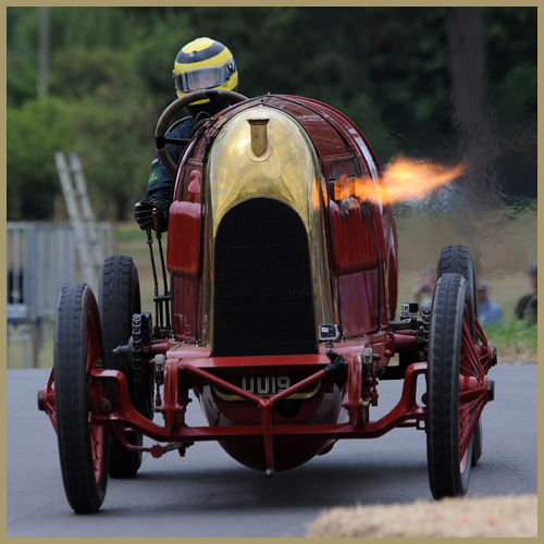 Fiat S76, Beast of Turin, at Chateau Impney Hill Climb, Droitwich