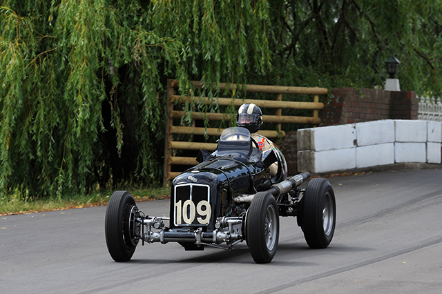 ERA R4D at the Chateau Impney Hill Climb, Droitwich