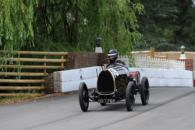 Edmund Burgess in the Bugatti Type 13