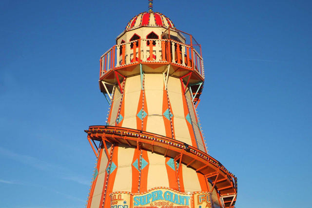 Helter-skelter at the Chateau Impney Hill Climb in Droitwich